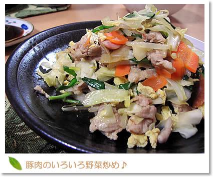 豚肉のいろいろ野菜炒め